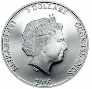 Аверс монеты с изображением Елизаветы Второй